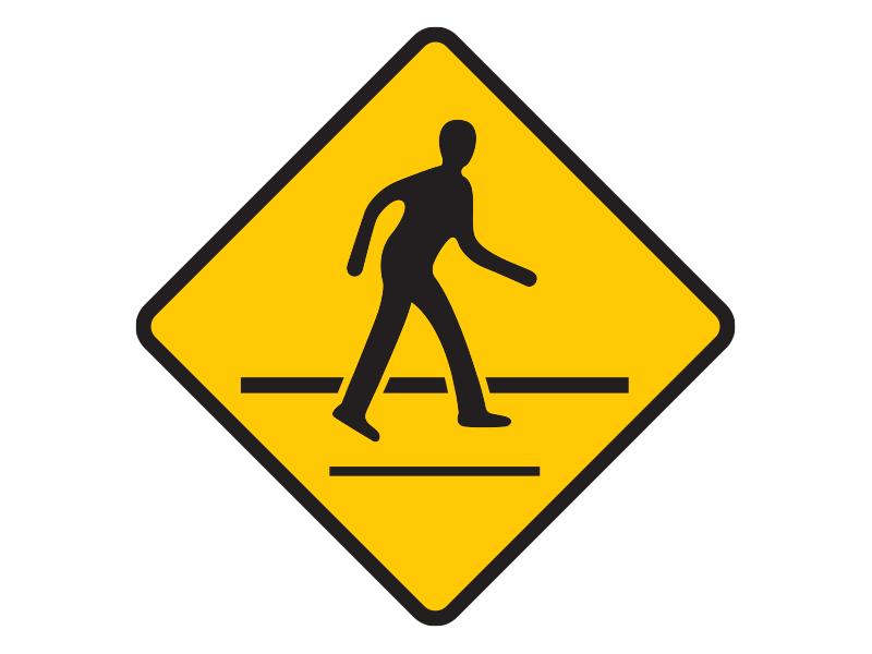 ระวังคนข้ามถนน